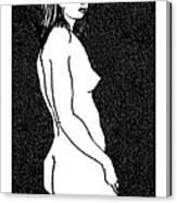 Nude Sketch 8 Canvas Print