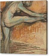 Nude Study For A Dancer At The Bar Canvas Print