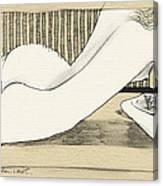 Nude With Broken Wrist Canvas Print