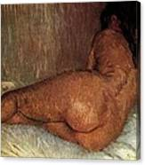 Nude Woman Reclining Canvas Print