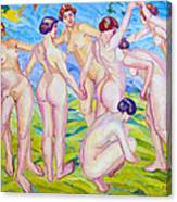 Nudes Dancing In A Ring Canvas Print