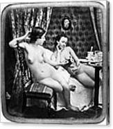 Nudes Having Tea, C1850 Canvas Print