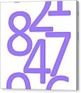 Numbers In Purple Canvas Print