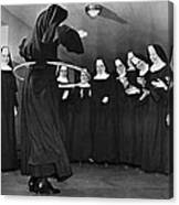 Nun Swivels Hula Hoop On Hips Canvas Print