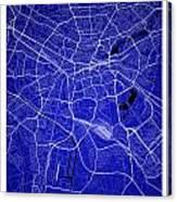 Nuremberg Street Map - Nuremberg Germany Road Map Art On Colored Canvas Print