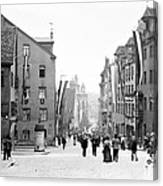 Nuremberg Street Scene 1903 Vintage Photograph Canvas Print