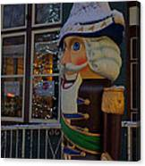 Nutcracker Statue In Downtown Grants Pass Canvas Print