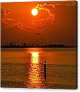 Nwfl Golden Sunset I Mlo Canvas Print