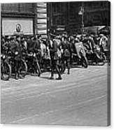 Ny Armored Motorcycle Squad  Canvas Print