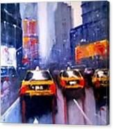 Ny Cabs 1 Canvas Print