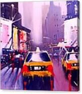 Ny Cabs2 Canvas Print