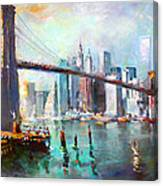 Ny City Brooklyn Bridge II Canvas Print