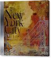 Ny City Collage - 6 Canvas Print