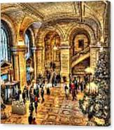 Ny Library Foyer Canvas Print
