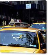 NY Streets - Yellow Cabs 2 Canvas Print
