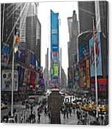 Ny Times Square Canvas Print
