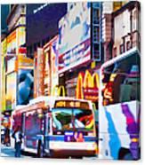 Ny Times Square Impressions Iv Canvas Print