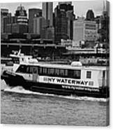 Ny Waterway Ferry Douglas B Gurian From New Jersey To New York City Canvas Print