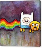 Nyan Time Canvas Print