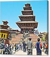 Nyatapola-tallest Pagoda In Nepal-in  Canvas Print