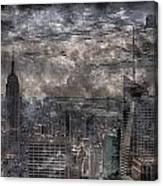 Nyc   Steel Engraved Canvas Print