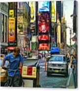 Nyc Bike Taxi Canvas Print