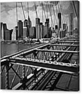 Nyc Brooklyn Bridge View Canvas Print