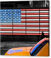 Nyc Cab Yellow Times Square Canvas Print