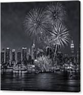 Nyc Celebrate Fleet Week Bw Canvas Print