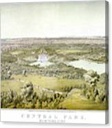 Nyc Central Park, C1859 Canvas Print