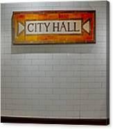 Nyc City Hall Subway Station Canvas Print