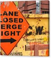 Nyc Construction Graffiti  Canvas Print