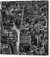 Nyc Downtown - Black And White Canvas Print