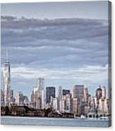 Nyc On A Cloudy Day Canvas Print