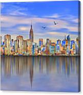 Nyc Reflections Canvas Print
