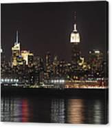 Nyc Skyline At Night Canvas Print
