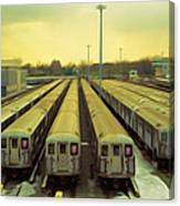 Nyc Subway Cars Canvas Print