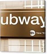 Nyc Subway Sign Canvas Print