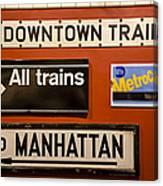 Nyc Subway Signs Canvas Print