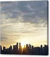 Nyc Sunrise Panorama Canvas Print