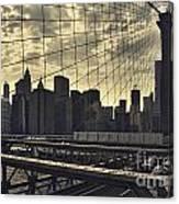 Nyc Through The Web Canvas Print