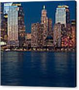 Nyc Twilght Pano Canvas Print