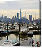 Nyc View From Lincoln Harbor Weehawkin Nj Canvas Print