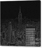 Nyc White On Black Canvas Print