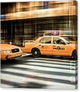 Nyc Yellow Cabs Canvas Print