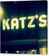 Nyc's Famous Katz's Deli Canvas Print