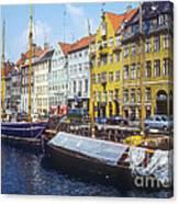 Nyhavn Boat Docks Canvas Print