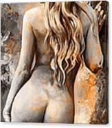 Nymph 02 - Digital Colored Rust Canvas Print