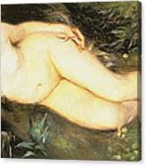 Nymph At The Stream Canvas Print