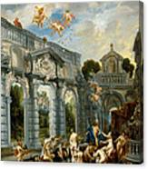 Nymphs At The Fountain Of Love Canvas Print